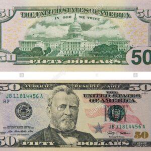 USD $50 Bills