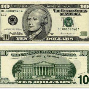 USD $10 Bills